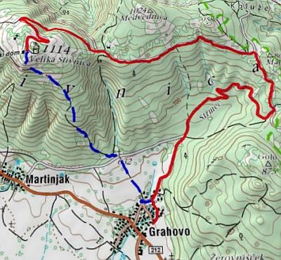 trasa teka na Slivnico,  TKD Sovica, NTP 2008