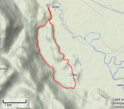 TOCJ trasa - Vabilo na 15. Tek ob Cerkniškem jezeru