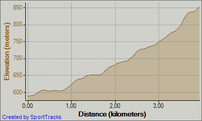 profil teka na Križno  goro