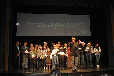 Naj sportnik, naj sportnica Občine Cerknica 2010