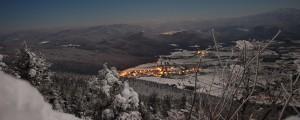 Pogled s Slivnice na Grahovo (30.10.2012 ob 0:30) Foto: Mitja Rok