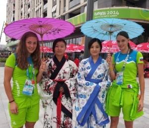 MOI Anita in Katja 300x258 - Anita Žnidaršič - udeleženka mladinskih olimpijskih iger na Kitajskem