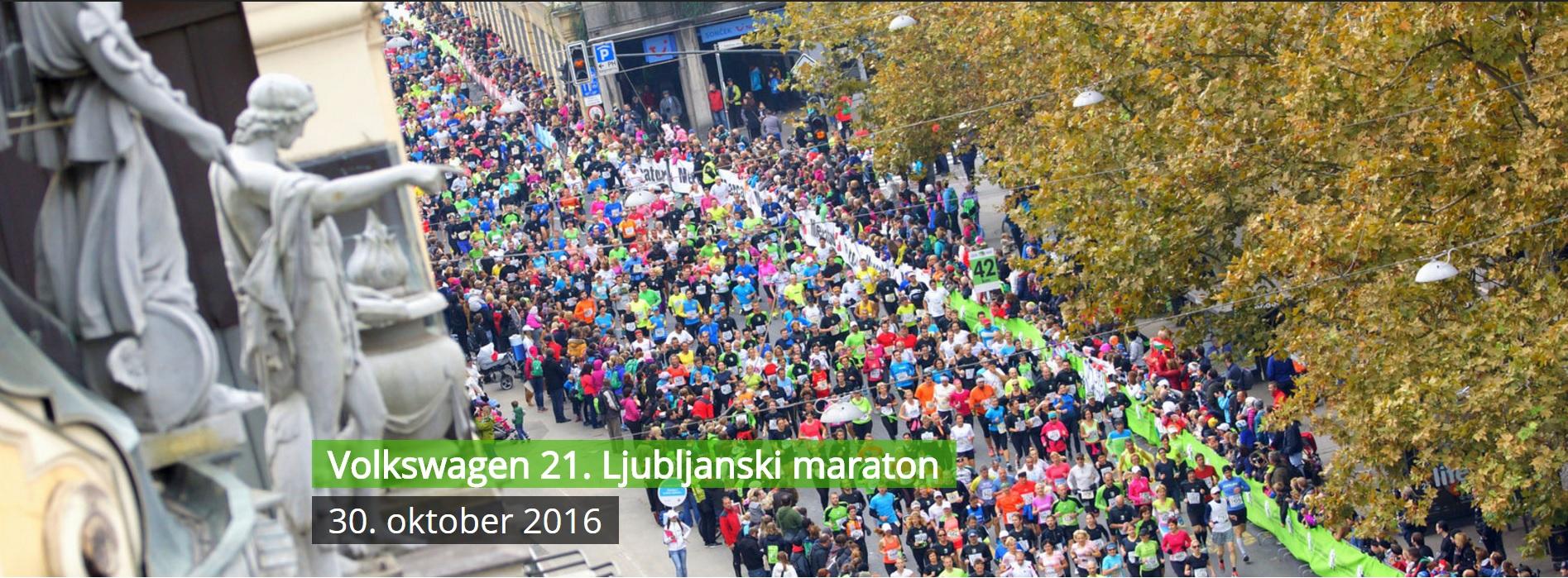 21. Ljubljanski maraton - Prevzem startnih številk in testeninka