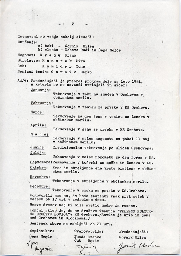 zapisnik ustavovnega zbora stran2 - TKD Sovica praznuje 40 let!