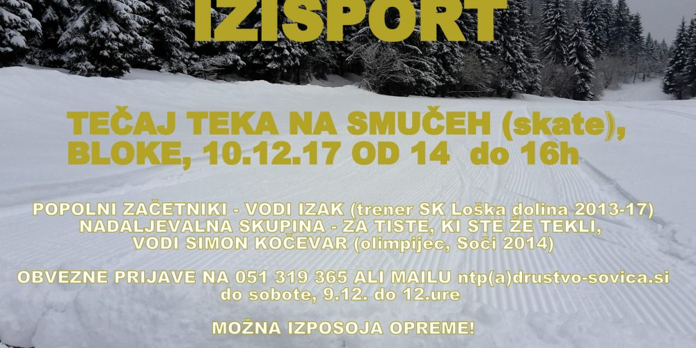Tečaj teka na smučeh, Bloke, 10.12.