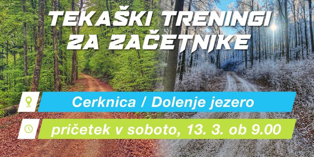 Tekaški treningi za začetnike, pričetek 13.3. ob 9:00